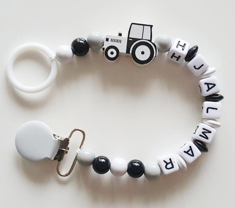 Napphållare, vit traktor