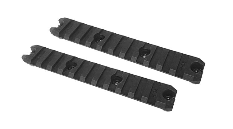 "[Amoeba] 5"" M-LOK Plastic Rail 2-pack - Black"