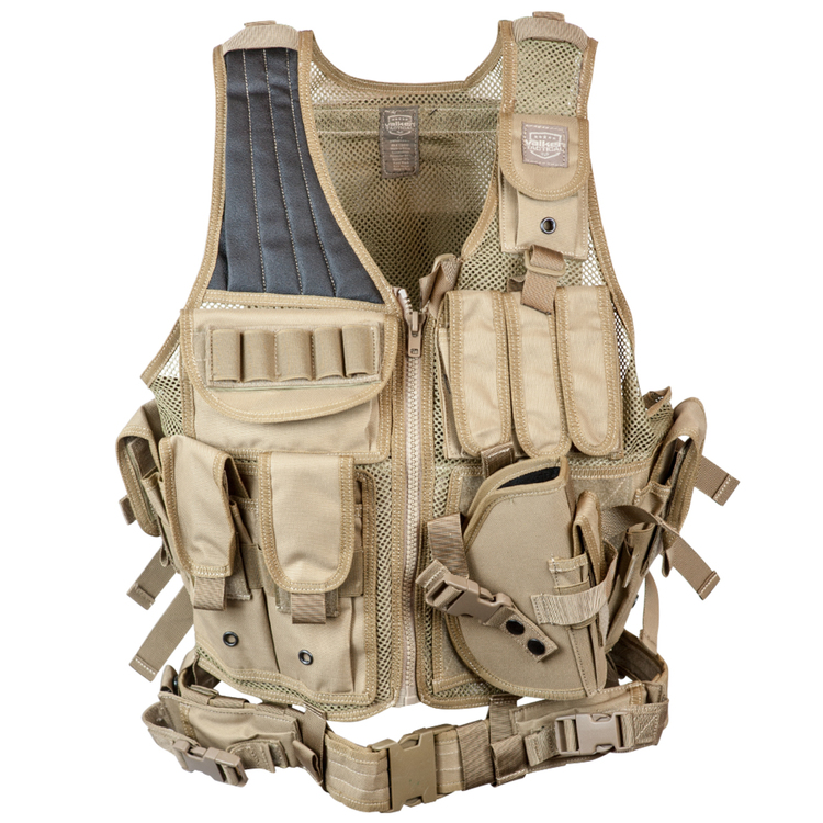 [Valken] Crossdraw Vest - Adult - Tan