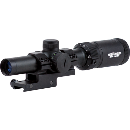 [Valken] Scope 1-4x20 w/ Mount Mil-Dot Reticle