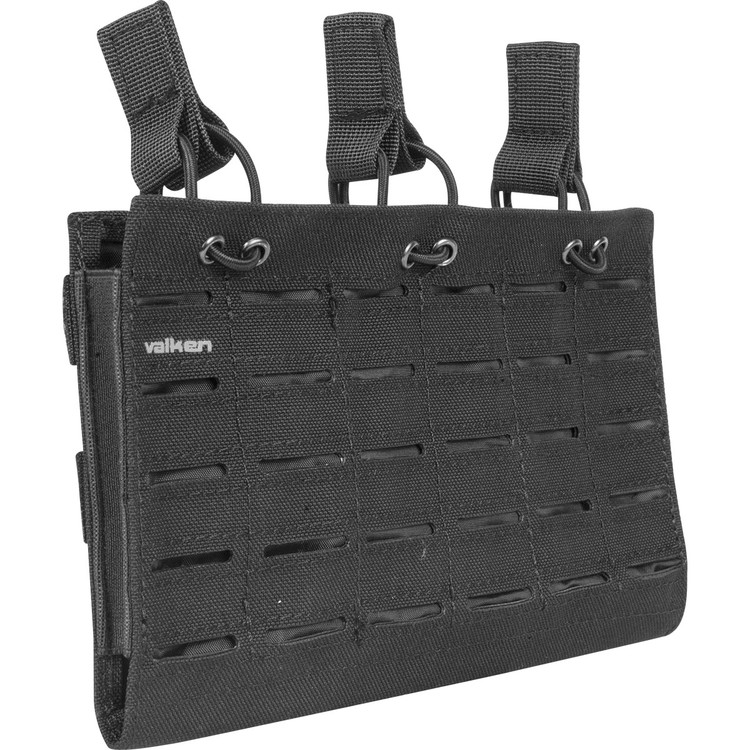 [Valken] Multi Rifle Mag Pouch LC - Triple - Black