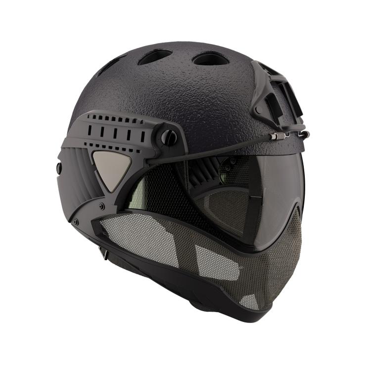 [WARQ] Helmet - Raptor Black