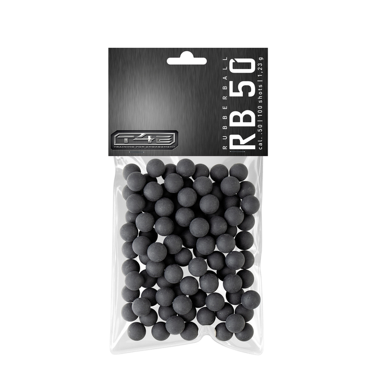 [Umarex] T4E RB .50 Cal Rubberballs - 100 Rounds