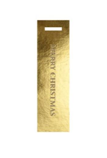Present tag Merry Christmas/guld