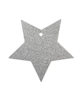 Present tag stjärna/silver