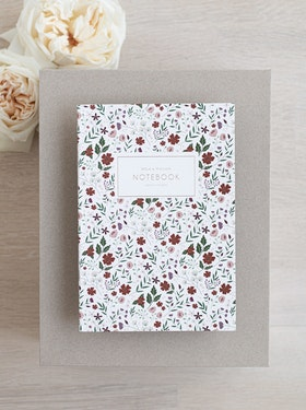 Notebook 'red floral'