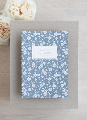 Notebook 'blue vintage'