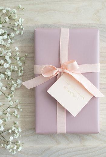 Presentpapper 'matt lack rosa'