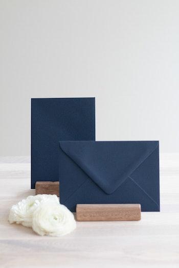 Kuvert 'navy blue' A6