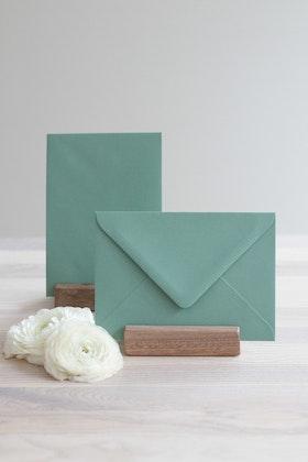 Kuvert 'jade green' A6