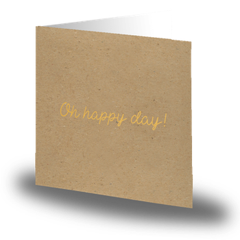 'Oh happy day'