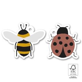 Tags 'Bee & Ladybug' 6-pack