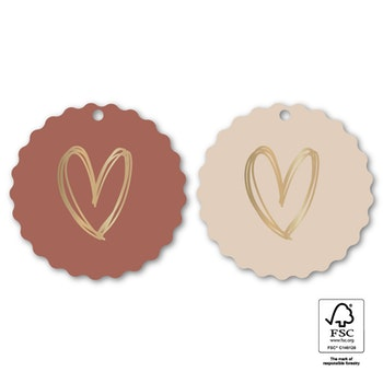 Tags 'Heart duo' 6-pack
