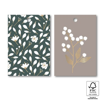 Tags 'Flowers duo' 6-pack