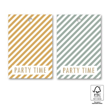 Tags 'Party time' 6-pack