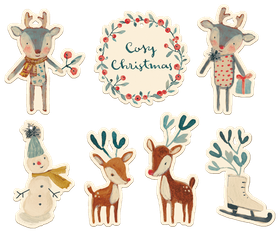 Jultags 'Cosy Christmas' 7-pack