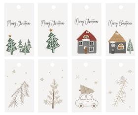 Jultags 8-pack