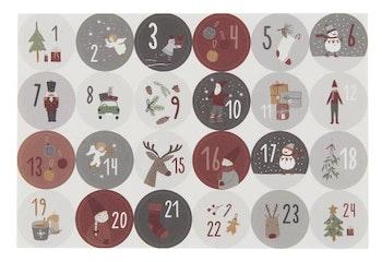 Julkalender-klistermärken