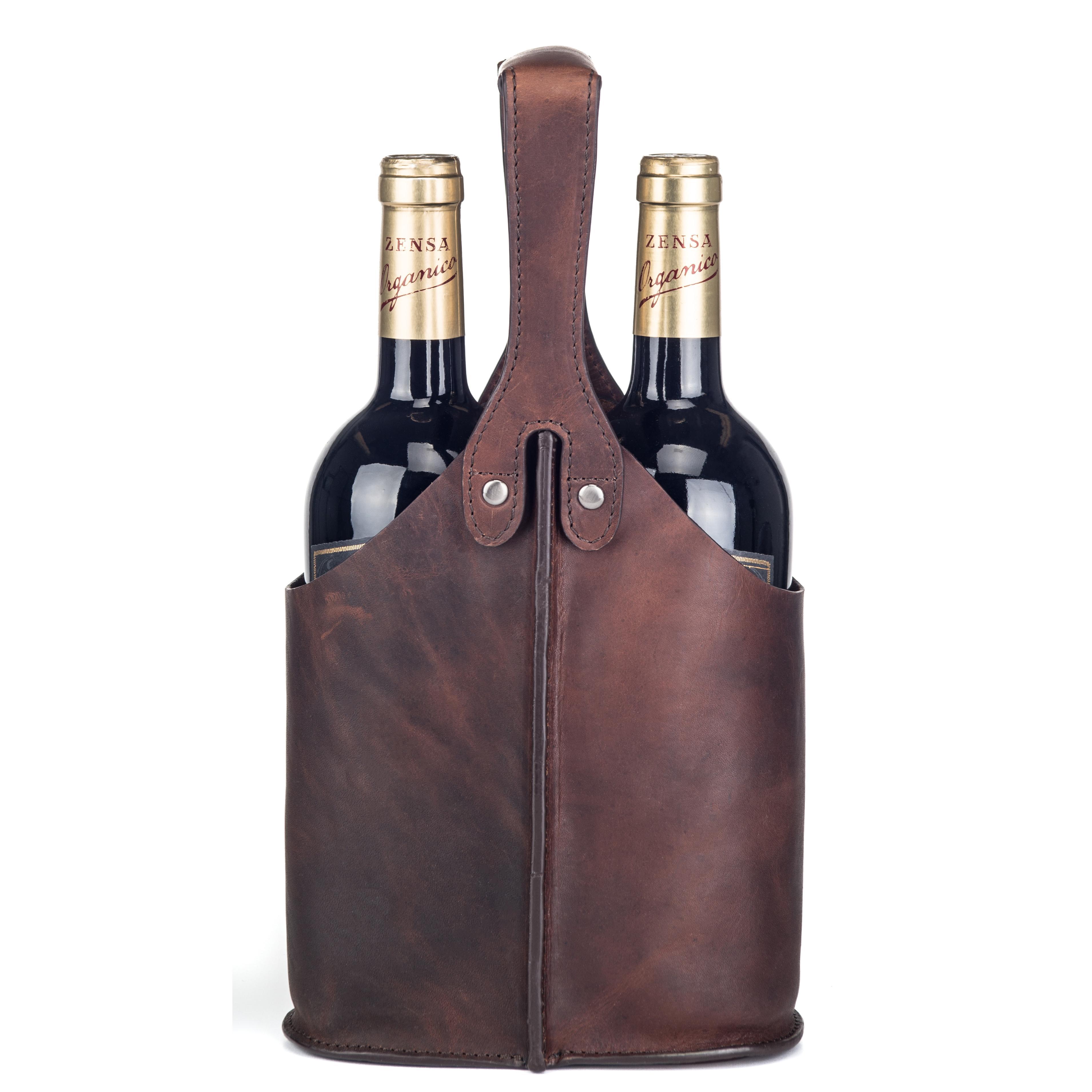 Vinväska Skinn - Två flaskor
