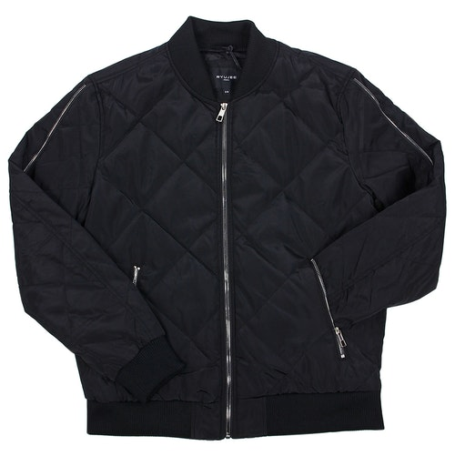 BLACK JACKET WITH SILVER ZIP