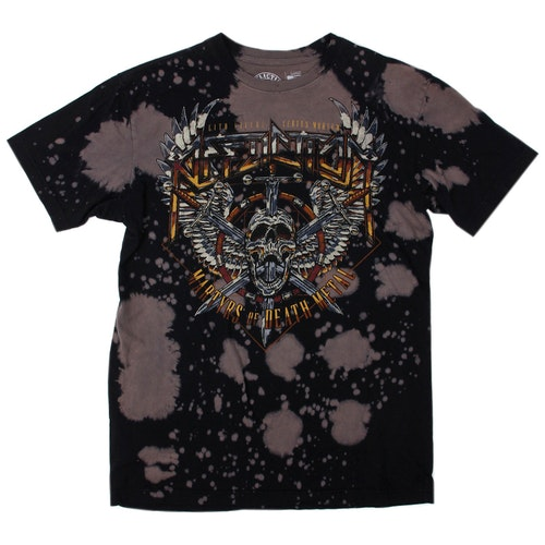 AFFLICTION SOFT WASHED BATIK SKULL TEE