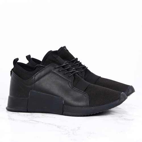 G26 EDITION - BLACK SNEAKERS IN FAUX LEATHER