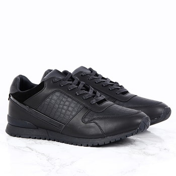 G26 EDITION - BLACK SNEAKERS IN FAUX SNAKE