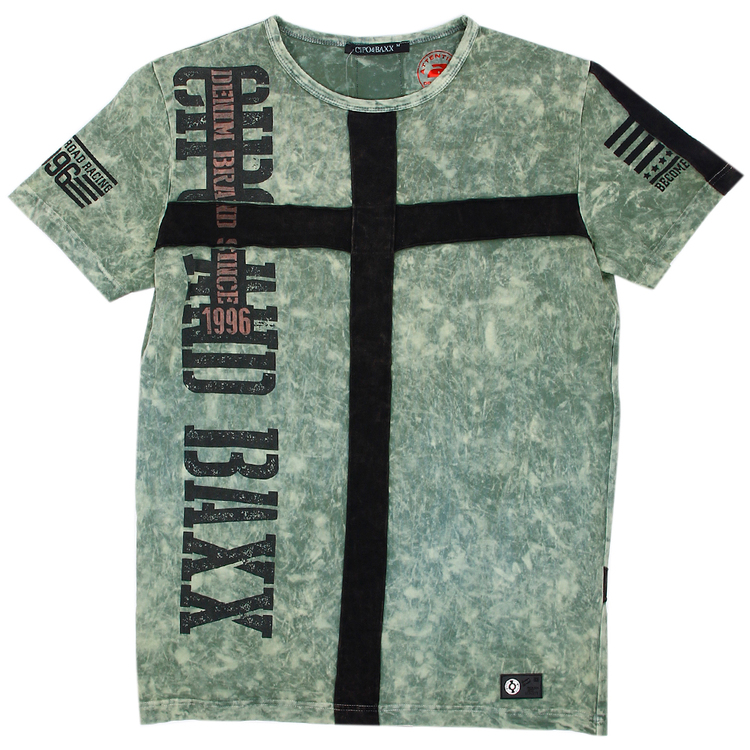 CIPO AND BAXX WASHED GREEN PATCH TEE