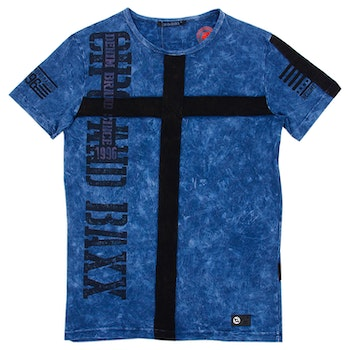 CIPO AND BAXX WASHED BLUE TEE