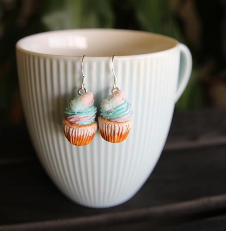 Örhängen, cupcakes med bubblizz
