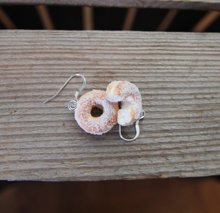 Örhängen, sockerdonuts