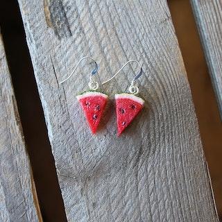 Örhängen, vattenmelon