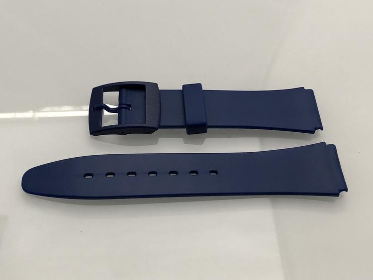 OUTLET - 18 mm blått gummi