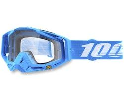 100% Racecraft Blå klar lins