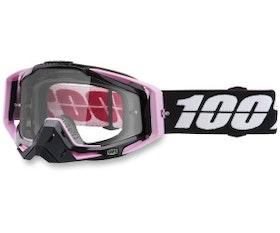 100%  Racecraft rosa/svart Klar lins