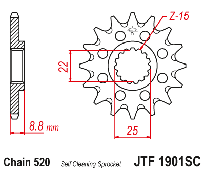 Framdrev JT KTM / HVA / Husaberg/ Beta RR