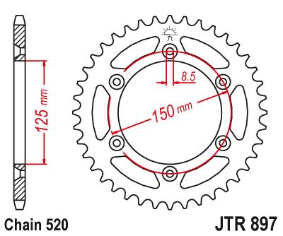 Bakdrev JT  KTM/Husqvarna