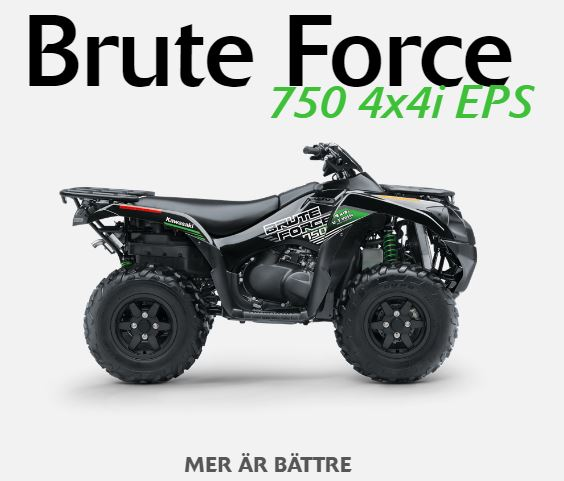 Brute Force 750 4x4 i EPS detta fordon kan leasas.
