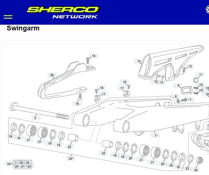 MooseRacing SHERCO 04-20