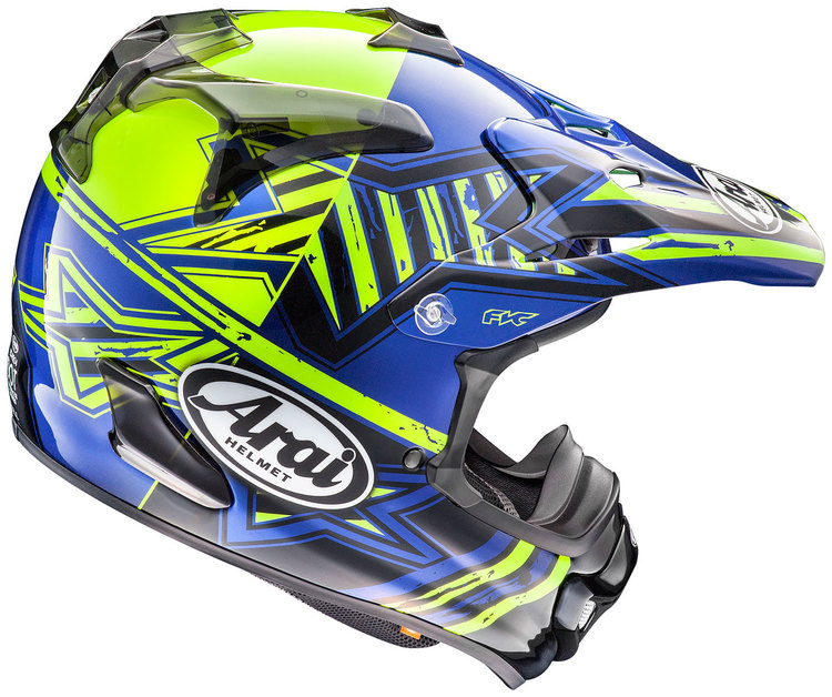 Arai  MX-V star Yellow crosshjälm