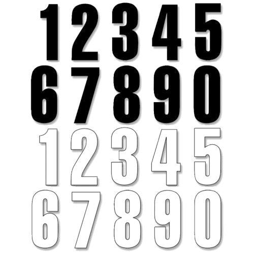 Siffror lösa vita 10 cm