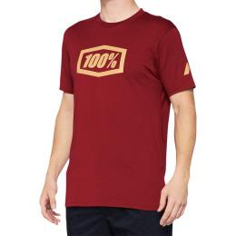 100% T-shirt röd