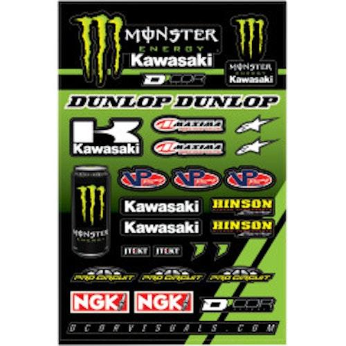 Klistermärken Monster Energy Kawasaki