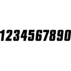 Svarta siffror 10cm FX FACTORY