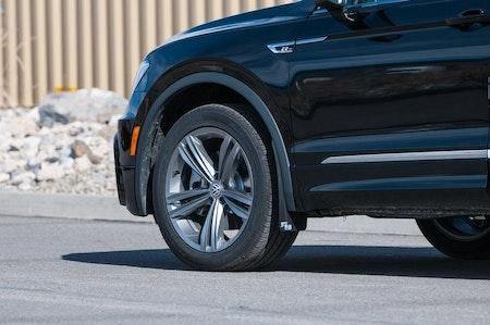 Volkswagen Tiguan med snygga stänkskydd