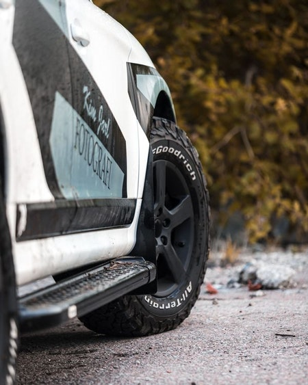Volvo med kamouflage mönster