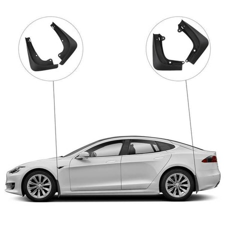 Tesla model S Stänkskydd - Mattsvart