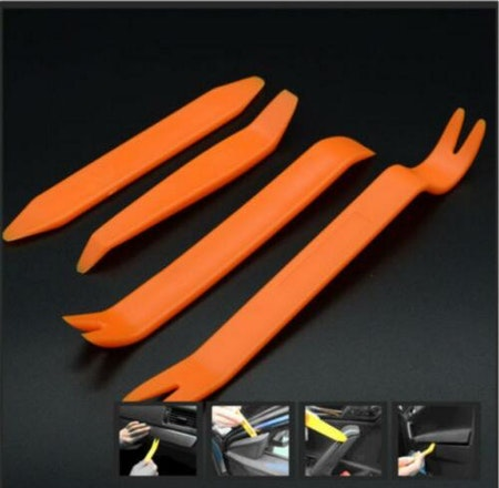 Verktyg för skonsam demontering av plastclips till bilen - 4pack - Fri frakt!