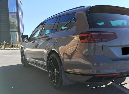 Snygga stänkskydd till nya Volkswagen Passat