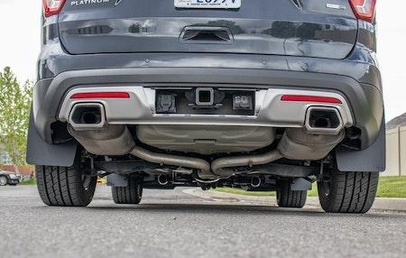 Hur stänkskydd ser ut under bilen